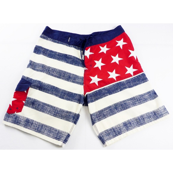 4ad7ebd3f2 RS Surf Men's 36 Board Shorts USA American Flag. M_5ac4d77a46aa7cce6aa532f7